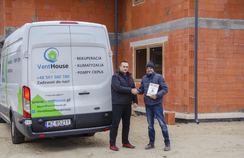 Wydano certyfikat akredytacji dla Venthouse Michał Mitrocki